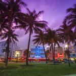 Ocean Drive in Miami at night